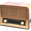 Old Radio, with 60 years of last century, on a white background — Stock Photo #51819071