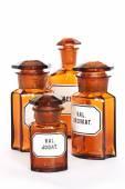 Pharmacy, glass bottle, Medicine — Stock Photo