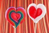 Valentine's Day, heart shaped lollipops — Foto de Stock
