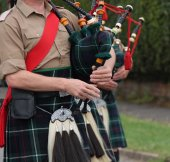 Highland Bagpipes. — Stock fotografie