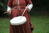 Medieval Style Drum. — Stock Photo