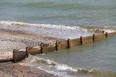 Beach Defence. — Stock Photo
