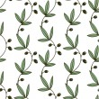 Seamless Green Floral Pattern With Olives — Stock Vector #70605379