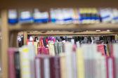 Library bookshelves — Stock Photo