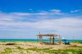 Beautiful tropical beach in the coast of ecuador — Stock Photo