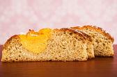 Coconut bun cake cut — Stock Photo