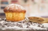 Delicious homemade muffin cake dessert cupcake pastry — Stock Photo