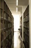 Scaffali di biblioteca — Foto Stock