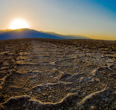 Beautiful sunset at Badwater Death Valley National Park — Stock Photo