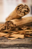 Closeup cinnamon sticks — Stock Photo