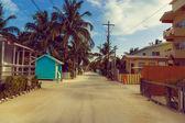 Caye caulker street — Stock Photo