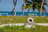 Graveyard in caye caulker belize — Stock Photo
