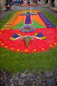 Easter carpets in antigua guatemala — Stock Photo