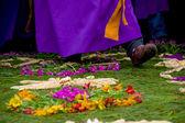 Påsk mattor i antigua guatemala — Stockfoto
