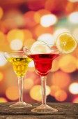 Cocktails on a table in bar — Stock Photo