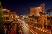 Las vegas boulevard at night — Stock Photo