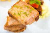 Fritada fried pork traditional ecuadorian food — Stock Photo