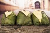 Quimbolitos ecuadorian traditional dessert — Stock Photo