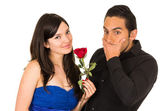 Young attratctive couple in love dating — Stock Photo