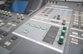 Professional studio mixing console — Stock Photo