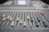 Professional studio mixing console — Stock Photo