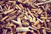 Closeup shot of burnt cigarette butts — Stock Photo