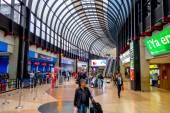 Travelers at the Jose Maria Cordova International Airport of Medellin, Colombia — Foto de Stock
