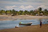 Mompiche beach and Portete island in Esmeraldas, Ecuador — Stock Photo