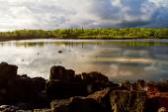 Salado Lake in Santa Cruz, Galapagos Islands — Foto de Stock