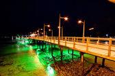 Pier of Baquerizo Moreno Port in Galapagos at night — Stock Photo