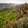 Amazing landscape of Twin Craters, Los Gemelos, mysterious mossy forest in Santa Cruz island, Galapagos — Stock Photo #70128199