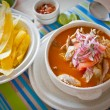Encebollado, fish stew, typical ecuadorian dish. — Stock Photo #70514571