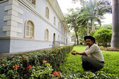 Urban architecture zone in the Parque Historico, cultural and educational park, Guayaquil — Stock Photo