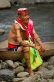 Shaman from the indigenous group of Santo Domingo de los Tsachilas, Ecuador — Stock Photo