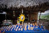 Street market, Puerto Cayo, coastal ecuadorian town along a scenic Route of the Sun. — Stock Photo