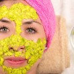Woman facial treatment spa — Stock Photo #76574797