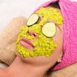 Woman facial treatment spa — Stock Photo #76574889