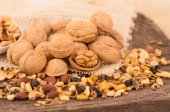 Walnuts and other nuts — Stock Photo