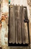 Rustic wooden authentic looking door — ストック写真