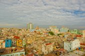 Panorama of Havana city Vedado District — Stock Photo