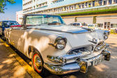 HAVANA, CUBA - AUGUST 30, 2015: Old classic American cars used for taxi and tourist transportation. — Stock Photo