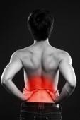 Asian man having pain isolated — Stock Photo