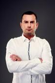 Handsome caucasian man isolated — Foto de Stock