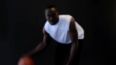 Basketball player with ball, — Stock Video