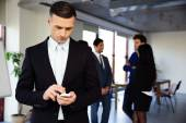 Group of a business people in the office — Stock Photo