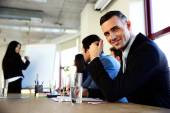Group of businesspeople in office — Stock Photo