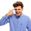 Handsome funny man isolated — Stock Photo #58086523