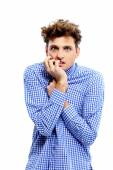 Handsome funny man isolated — Stock Photo