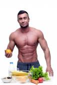 Handsome muscular man isolated — Stock Photo