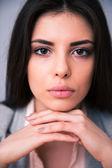 Closeup portrait of a beautiful woman — Stock Photo